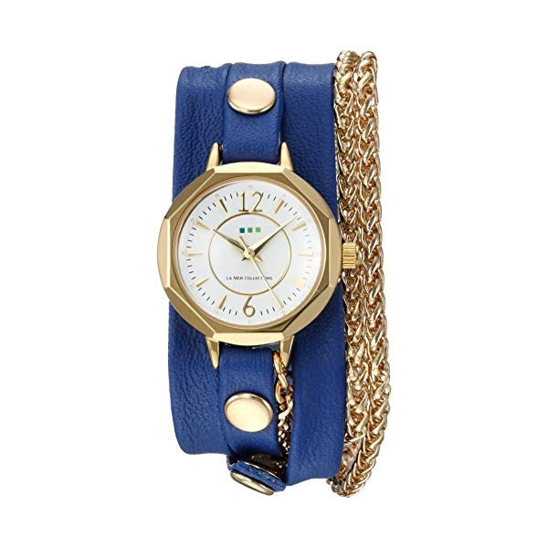 ラメール コレクションズ 腕時計 La Mer Collections LAMERDEL4504 レディース ウォッチ 女性用 La Mer Collections Women's Japanese-Quartz Watch with Leather Calfskin Strap, Blue, 6 (Model: LAMERDEL4504