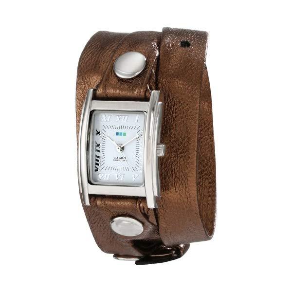 ラメール コレクションズ 腕時計 La Mer Collections LMMTW1000 レディース ウォッチ 女性用 La Mer Collections Women's LMMTW1000 Bronze and Silver Simple Wrap Bronze Silver Leather Watch