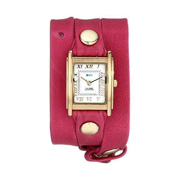 ラメール コレクションズ 腕時計 La Mer Collections LMSTW3010 レディース ウォッチ 女性用 La Mer Collections Women's LMSTW3010 Washed Berry Gold Simple Wrap Watch