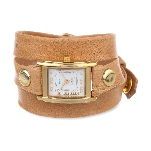 ラメール コレクションズ 腕時計 La Mer Collections LMSTW3007 レディース ウォッチ 女性用 La Mer Collections Women's LMSTW3007 Camel Gold Simple Wrap Watch