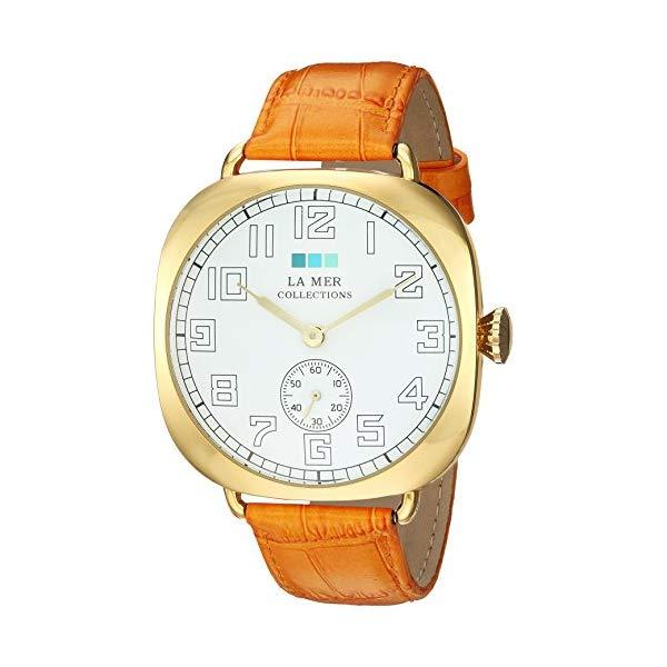 ラメール コレクションズ 腕時計 La Mer Collections LMOVW9503 レディース ウォッチ 女性用 La Mer Collections Women's Japanese-Quartz Watch with Leather Calfskin Strap, Orange, 22.22 (Model: LMOVW9503)