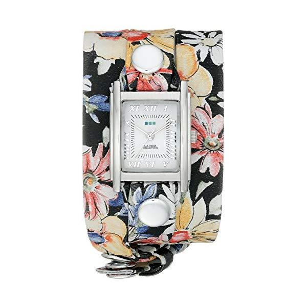 ラメール コレクションズ 腕時計 La Mer Collections LMSTWEXL018 レディース ウォッチ 女性用 La Mer Collections Women's LMSTWEXL018 Analog Watch with Magnolia Print Wrap Band
