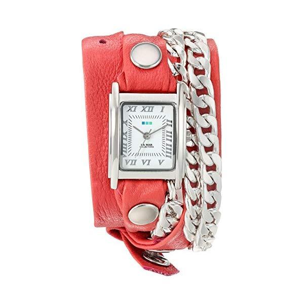 ラメール コレクションズ 腕時計 La Mer Collections LMCW2016368 レディース ウォッチ 女性用 La Mer Collections Women's 'Silver Cuban Duo Chain' Quartz and Leather Watch, Color:Two Tone (Model: LMCW2016368)
