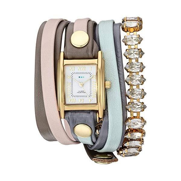 ラメール コレクションズ 腕時計 La Mer Collections LMMULTI2518 レディース ウォッチ 女性用 La Mer Collections Women's Japanese-Quartz Watch with Leather Calfskin Strap, Multi, 12 (Model: LMMULTI2518