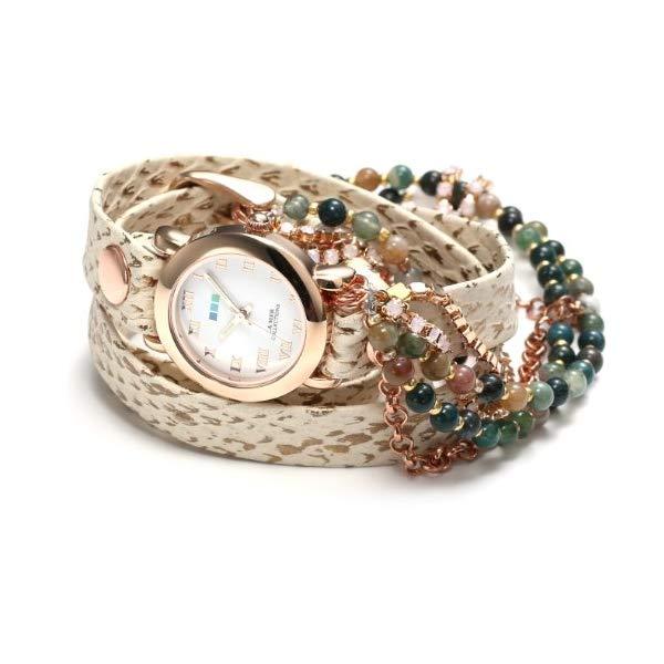 ラメール コレクションズ 腕時計 La Mer Collections LMMULTI7006 レディース ウォッチ 女性用 La Mer Collections Women's LMMULTI7006 Stone and Chain Collection Camp's Bay Stones Wrap Watch