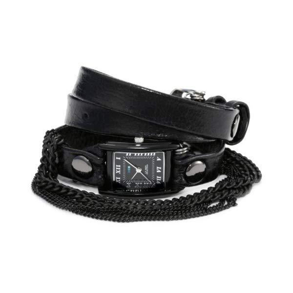 ラメール コレクションズ 腕時計 La Mer Collections LMMULTI3003 レディース ウォッチ 女性用 La Mer Collections Women's LMMULTI3003 Onyx Black Chain Wrap Watch