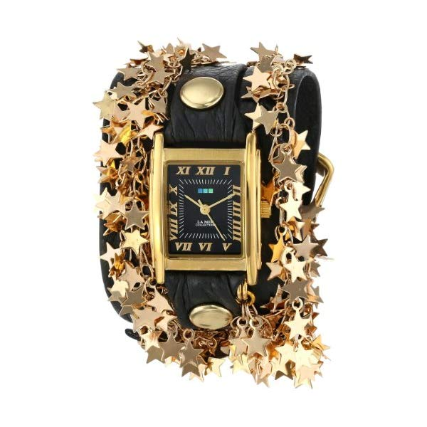 ラメール コレクションズ 腕時計 La Mer Collections LMCW6003 レディース ウォッチ 女性用 La Mer Collections Women's LMCW6003 Sparkling Stars Watch with Black Wrap Band
