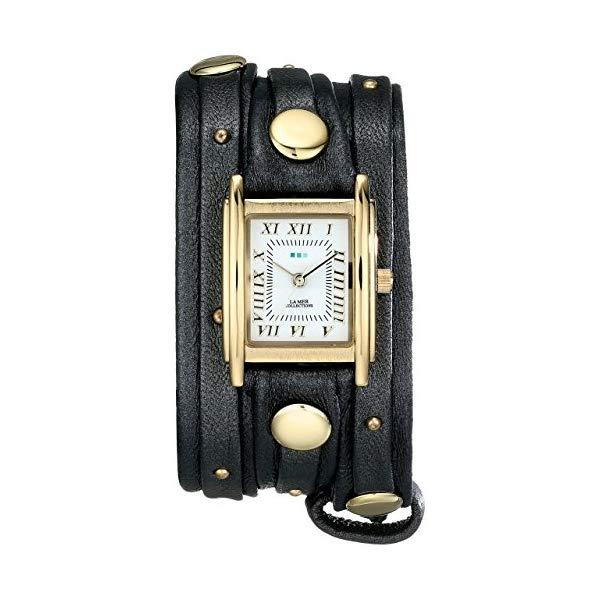 ラメール コレクションズ 腕時計 La Mer Collections LMSW2001 レディース ウォッチ 女性用 La Mer Collections Women's LMSW2001 Layered and Studded Gunmetal and Gold Wrap Watch