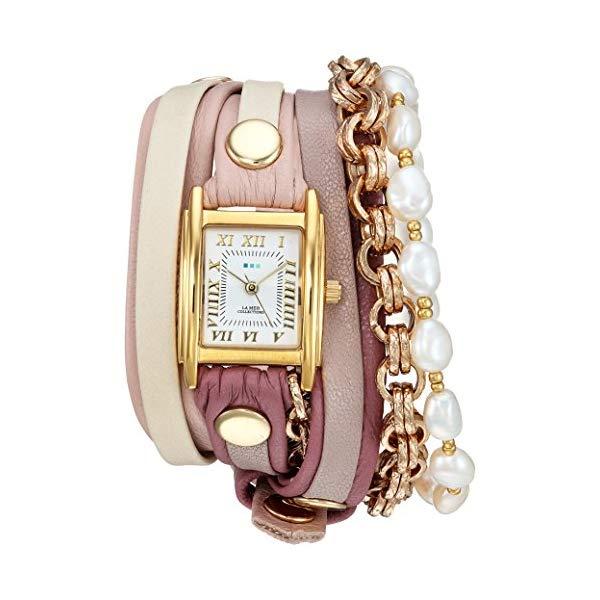 ラメール コレクションズ 腕時計 La Mer Collections LMMULTI2104 レディース ウォッチ 女性用 La Mer Collections Women's Japanese-Quartz Watch with Leather-Calfskin Strap, Multi, 12 (Model: LMMULTI2104)