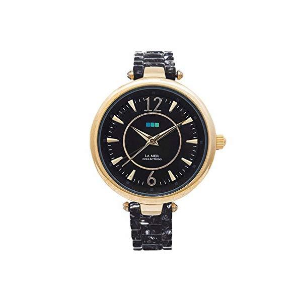 ラメール コレクションズ 腕時計 La Mer Collections レディース ウォッチ 女性用 La Mer Collections Women's Sicily Watch with Black Acetate Links & Black Dial