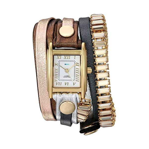 ラメール コレクションズ 腕時計 La Mer Collections LMBGT001 レディース ウォッチ 女性用 La Mer Collections Women's Japanese-Quartz Watch with Leather Calfskin Strap, Multi, 12 (Model: LMBGT001)