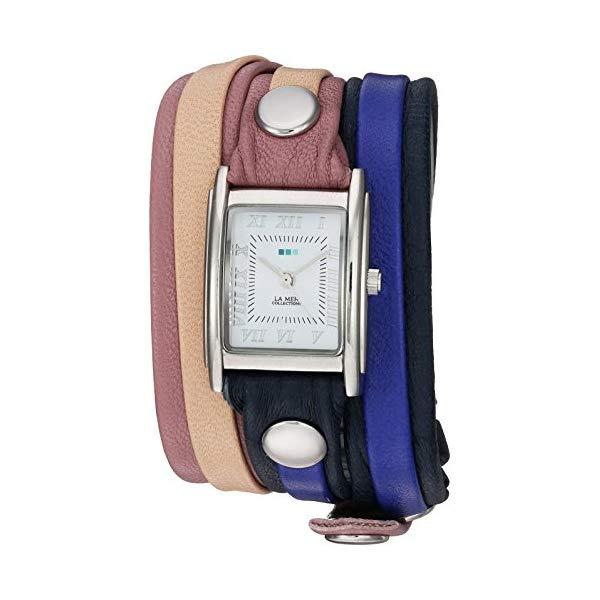 ラメール コレクションズ 腕時計 La Mer Collections LMLWMIX3001 レディース ウォッチ 女性用 La Mer Collections Women's Japanese-Quartz Watch with Leather Calfskin Strap, Multi, 7.9 (Model: LMLWMIX3001)