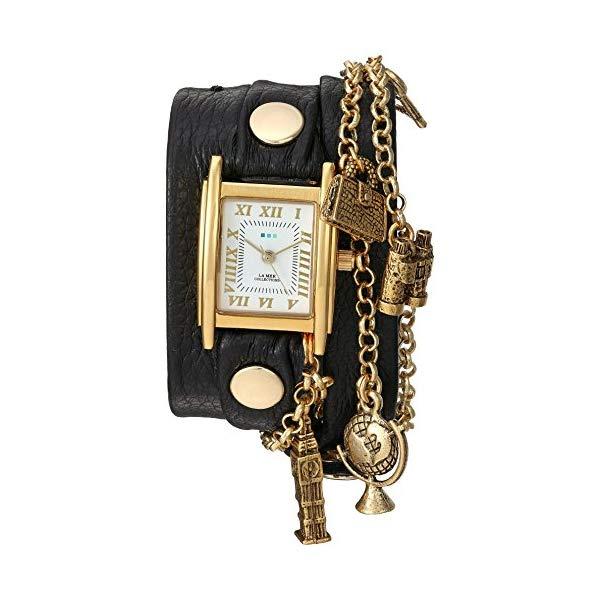 ラメール コレクションズ 腕時計 La Mer Collections LMCW1004A レディース ウォッチ 女性用 La Mer Collections Women's Japanese-Quartz Watch with Leather Calfskin Strap, Black, 7.9 (Model: LMCW1004A)