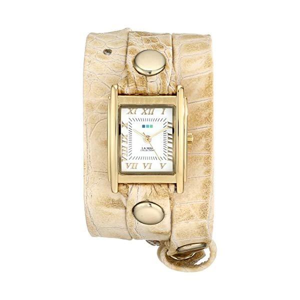 ラメール コレクションズ 腕時計 La Mer Collections LMSTW7006 レディース ウォッチ 女性用 La Mer Collections Women's LMSTW7006 Stainless Steel Watch with Leather Croc-Embossed Wraparound Strap