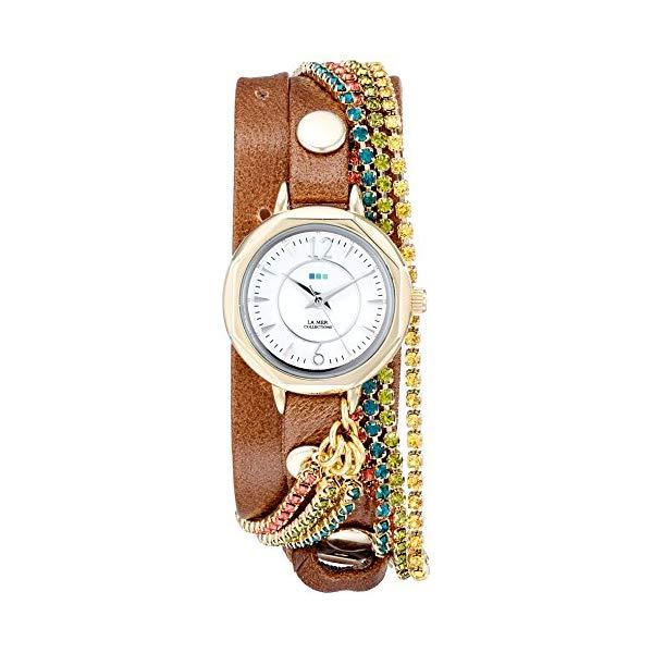 ラメール コレクションズ 腕時計 La Mer Collections LMDELCRY1502 レディース ウォッチ 女性用 La Mer Collections Women's LMDELCRY1502 Mocha Berlin Crystal Analog Display Quartz Brown Watch