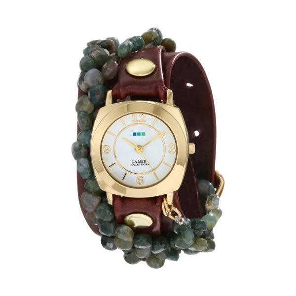 ラメール コレクションズ 腕時計 La Mer Collections LMMULTI2014 レディース ウォッチ 女性用 La Mer Collections Women's LMMULTI2014 Tesoro Stainless Steel Watch with Wraparound Leather Strap
