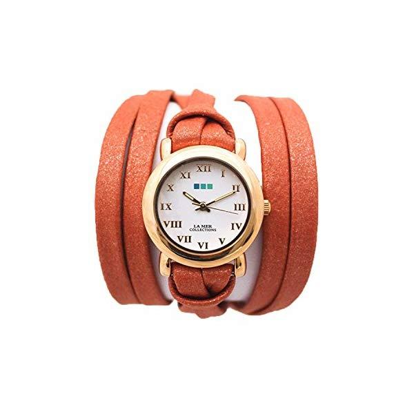 ラメール コレクションズ 腕時計 La Mer Collections レディース ウォッチ 女性用 La Mer Collections Pumpkin Shimmer Gold Saturn Watch