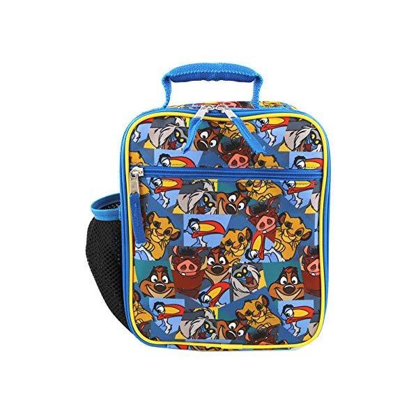 ライオンキング バッグ ランチボックスバッグ カバン 鞄 グッズ おもちゃ ディズニー The Lion King Boy's Girl's Soft Insulated School Lunch Box (Blue, One Size)