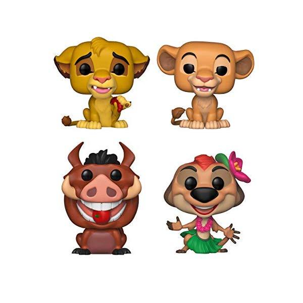 ライオンキング ファンコ ポップ シンバ ナラ プンバァ ティモン 4体セット グッズ おもちゃ ディズニー Funko Disney POP! Lion King Collectors Set Simba, Nala, Luau Pumbaa, Luau Timon