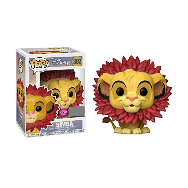 ライオンキング ファンコ ポップ シンバ フィギュア グッズ おもちゃ ディズニー Lion King Simba Leaf Mane Flocked Pop! Figure EE Excl.