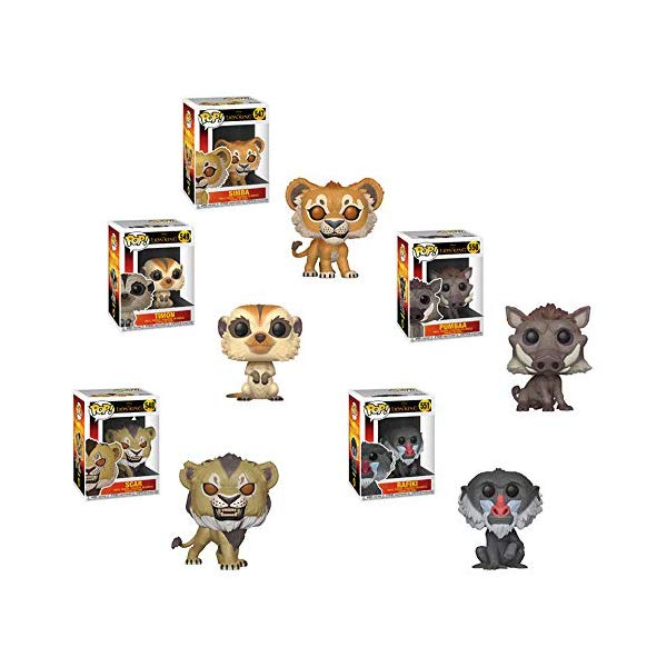 ライオンキング ファンコ ポップ シンバ ティモン スカー プンバァ ラフィキ フィギュア グッズ おもちゃ ディズニー Funko Pop! Bundle of 5 Lion King Live Action