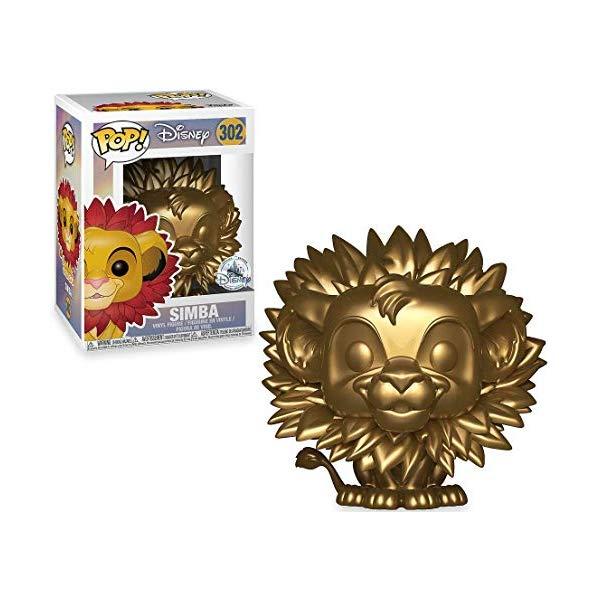 ライオンキング ファンコ ポップ シンバ ゴールド 金 フィギュア グッズ おもちゃ ディズニー The Lion King POP! Disney Simba Exclusive Vinyl Figure #302 [Gold, Leaf Mane]