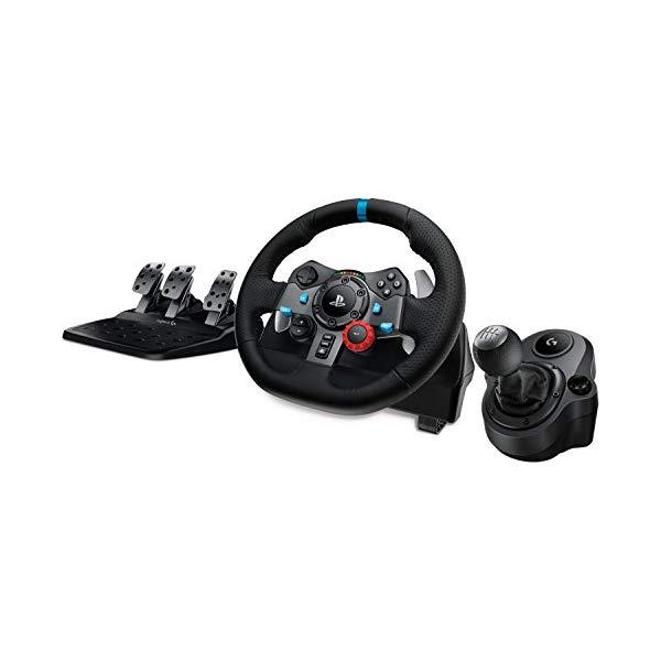 ロジテック ロジクール ドライビングフォース レーシング ホイール ハンドル ステアリング シフター シフト (ハンドル+シフト+ペダル)Logitech G29 Driving Force Race Wheel + Logitech G Driving Force Shifter Bundle