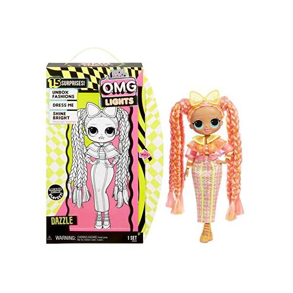 LOLサプライズ ライト ダズル 期間限定 光る 蛍光 おもちゃ グッズ フィギュア 人形 ファッションドール Surprise 15 Fashion Doll 割引も実施中 O.M.G. Dazzle with L.O.L. Lights Surprises