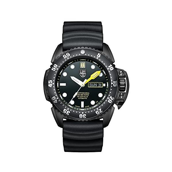 かわいい! ルミノックス Steel Luminox 腕時計 時計 ウォッチ オートマチック (Model: メンズ ウォッチ 男性用 ミリタリー Luminox Men's 'SEA' Swiss Automatic Stainless Steel and Rubber Casual Watch, Color:Black (Model: 1521), 片品村:ad3ff307 --- hafnerhickswedding.net