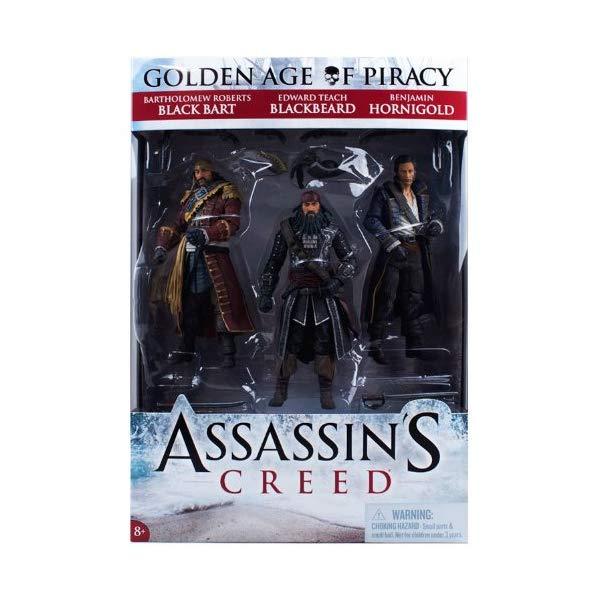 マクファーレン トイズ アサシンクリード アクションフィギュア 人形 McFarlane Toys Series 1 Assassin's Creed Pirate Action Figure, 3-Pack