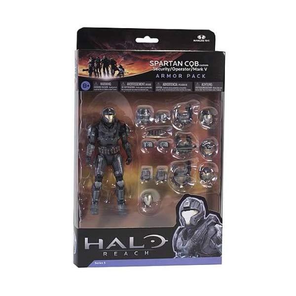 マクファーレン トイズ ヘイロー アクション フィギュア ダイキャスト Halo Reach Series 5 6 Inch Scale Spartan CQB Custom & 3 Sets Of Armor - Steel Action Figure Armor Pack
