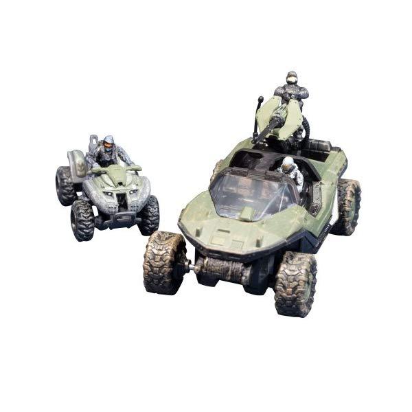 マクファーレン トイズ ヘイロー アクション フィギュア ダイキャスト McFarlane Toys Halo Micro Ops Series 1: Warthog and Mongoose with 2 Spartans and Trooper