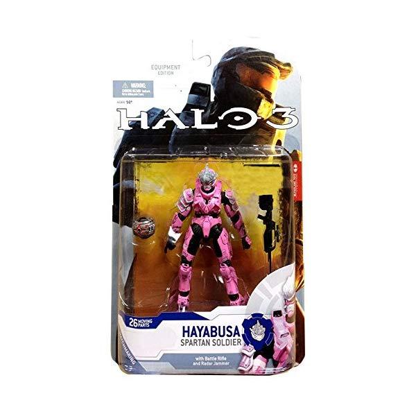マクファーレン トイズ ヘイロー アクション フィギュア ダイキャスト Halo 3 McFarlane Toys Series 5 (2009 Wave 2) 2009 SDCC San Diego Comic-Con Exclusive Action Figure PINK Hayabusa Spartan Soldier (Shotgun and Radar Jammer)