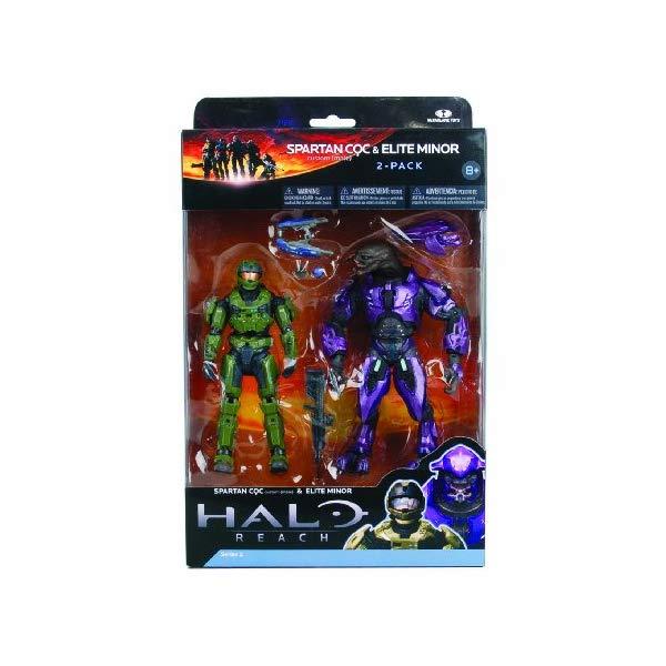 マクファーレン トイズ ヘイロー アクション フィギュア ダイキャスト McFarlane Toys Halo Reach Series 2 - Spartan vs Elite 2 Pack Sage/Sage and Violet/Violet