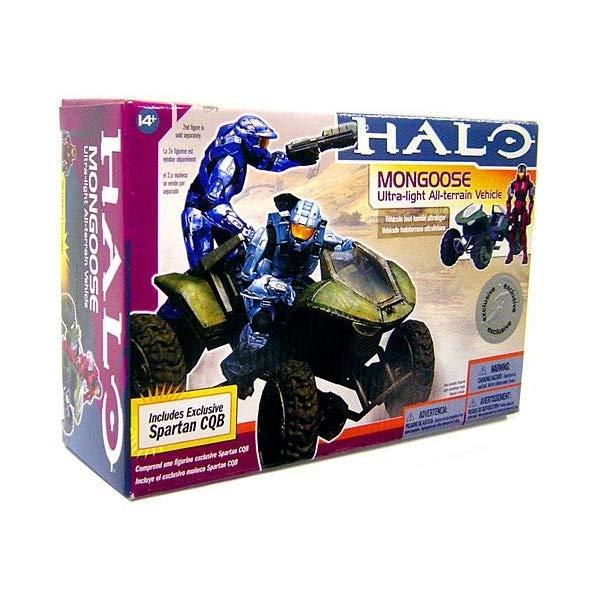 マクファーレン トイズ ヘイロー アクション フィギュア ダイキャスト Halo 2009 McFarlane Toys Exclusive Deluxe Vehicle with Action Figure Boxed Set Mongoose with Crimson & Steel CQB