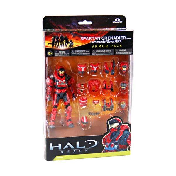 マクファーレン トイズ ヘイロー アクション フィギュア ダイキャスト Halo Reach Series 4 Red Spartan Grenadier Custom Commando Scout EVA Armor Pack