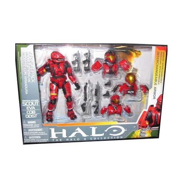 マクファーレン トイズ ヘイロー アクション フィギュア ダイキャスト Halo 2009 McFarlane Toys Deluxe Action Figure Boxed Set Red Scout Armor Pack (Red ODST, EVA and CQB Armors)