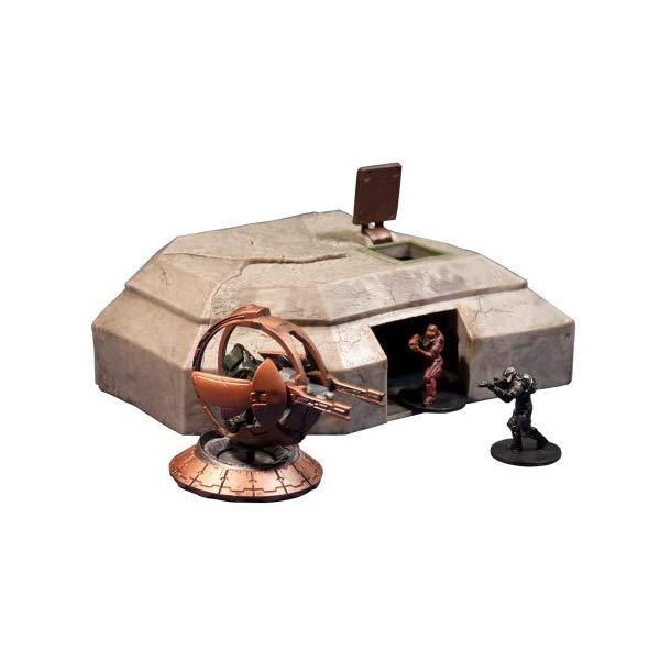 マクファーレン トイズ ヘイロー アクション フィギュア ダイキャスト McFarlane Toys Halo Micro Ops Series 1: High Ground Bunker with a Shade Turret, Spartan and Marine