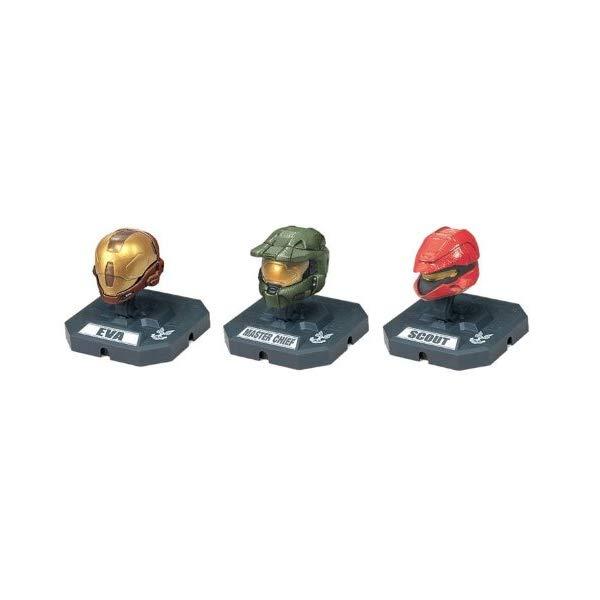 マクファーレン トイズ ヘイロー アクション フィギュア ダイキャスト McFarlane Toys Action Figures - Halo 3 Helmet 3-Pack Wave 2 - SCOUT (Red), MASTER CHIEF (Olive), EVA
