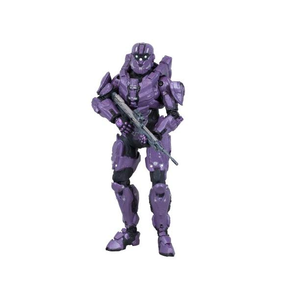 マクファーレン トイズ ヘイロー アクション フィギュア ダイキャスト Halo 4 Series 2- Spartan C.I.O (Team Purple) with DMR