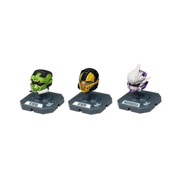 マクファーレン トイズ ヘイロー アクション フィギュア ダイキャスト McFarlane Toys Action Figures - Halo 3 Helmet 3-Pack Wave 2 - EOD (Green), HAYABUSA (Purple), CQB