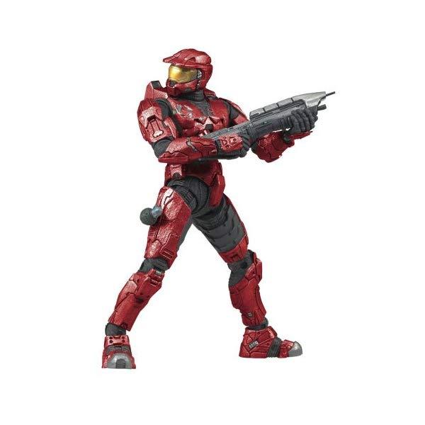マクファーレン トイズ ヘイロー アクション フィギュア ダイキャスト Halo 3 Series 1 - Spartan Soldier Mark VI Armor (Red)
