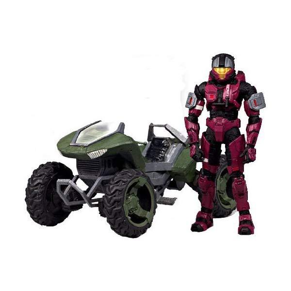 マクファーレン トイズ ヘイロー アクション フィギュア ダイキャスト Halo 2009 McFarlane Toys Exclusive Deluxe Vehicle with Action Figure Boxed Set Mongoose with Crimson & Steel CQB by McFarlane Toys