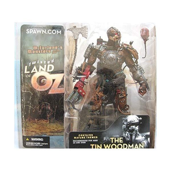 マクファーレントイズ スポーン アクションフィギュア ダイキャスト Spawn McFarlane Monsters Twisted Land of Oz Tin Woodman Wood Man Includes Chapter 6 & 7 Of Twisted Land of Oz Mythology
