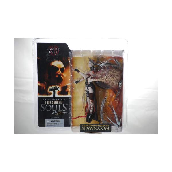 マクファーレントイズ スポーン アクションフィギュア ダイキャスト 2002 - McFarlane Toys / Spawn - Clive Barker's Tortured Souls 2 The Fallen - Camille Noire Action Figure - 6 Inches - Out of Production - New - Mint - Rare - Limited Edition - Collectible