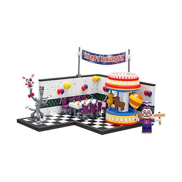 マクファーレン トイズ ファイブナイツ アット フレディーズ フィギュア 人形 ダイキャスト McFarlane Toys Five Nights At Freddy's Game Area Construction Building Kit