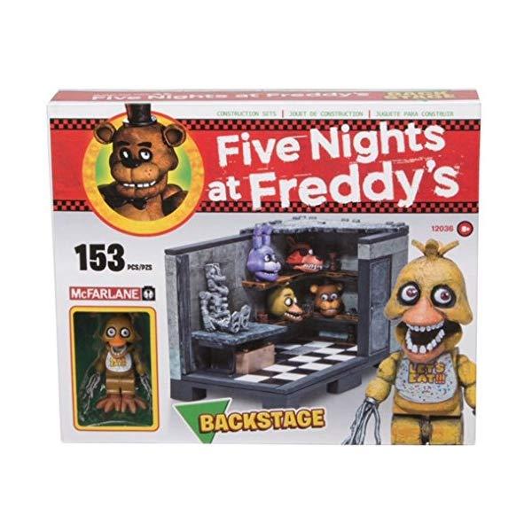 マクファーレン トイズ ファイブナイツ アット フレディーズ フィギュア 人形 ダイキャスト Five Nights At Freddy's Backstage Construction Set