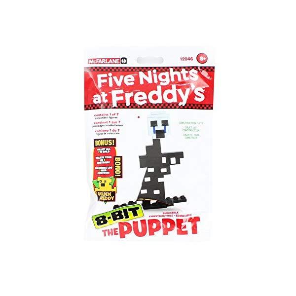 マクファーレン トイズ ファイブナイツ アット フレディーズ フィギュア 人形 ダイキャスト McFarlane Toys Five Nights At Freddy's - The Puppet 8-Bit Buidable Figure