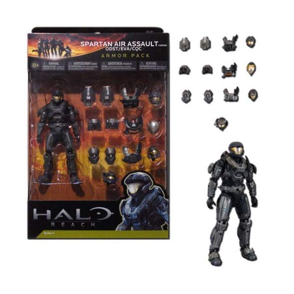 マクファーレン トイズ ヘイロー アクション フィギュア ダイキャスト Halo Reach McFarlane Toys Deluxe Action Figure Boxed Set STEEL Spartan Air Assault Custom Armor Pack ODST, EVA, CQC by McFarlane