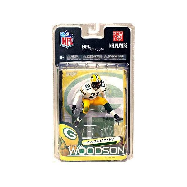 マクファーレン トイズ NFL アメフト アクション フィギュア ダイキャスト Green Bay Packers NFL 25 Charles Woodson White Jersey Exclusive by McFarlane Toys